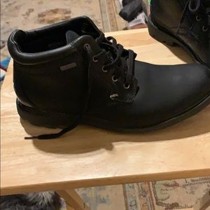 ROCKPORT men's black leather boots size 9.5